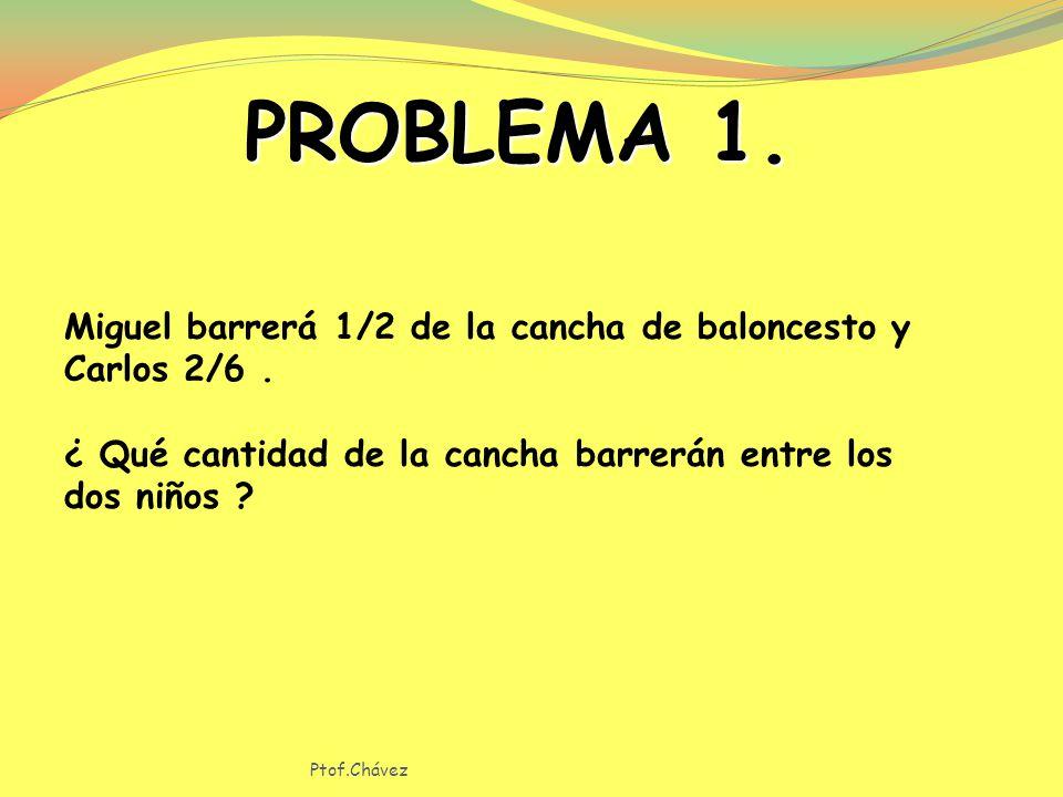 PROBLEMA 1. Miguel barrerá 1/2 de la cancha de baloncesto y