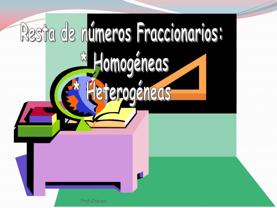 Resta de números Fraccionarios: