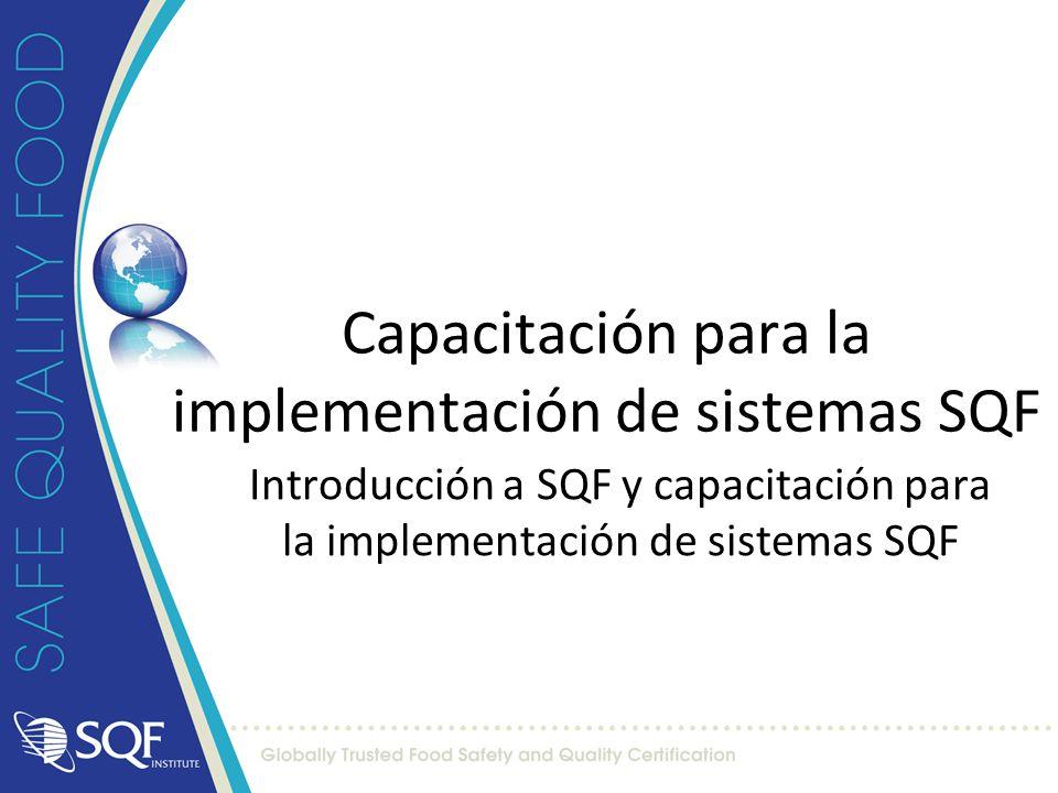 Capacitación para la implementación de sistemas SQF