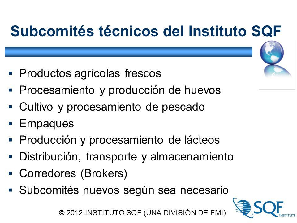 Subcomités técnicos del Instituto SQF