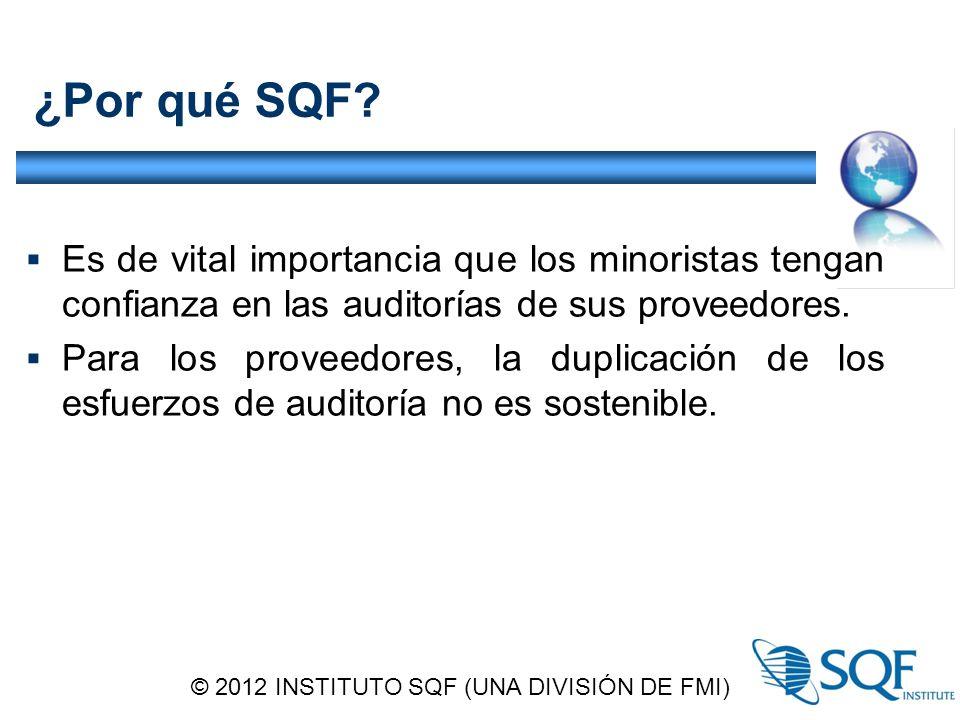 © 2012 INSTITUTO SQF (UNA DIVISIÓN DE FMI)