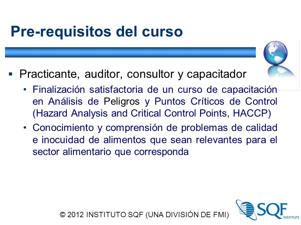 Pre-requisitos del curso