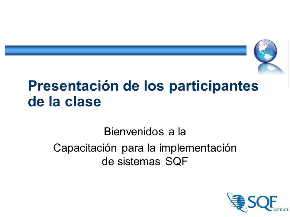 Presentación de los participantes de la clase