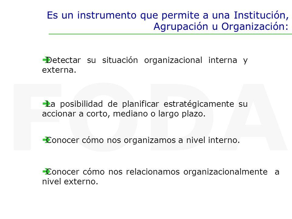 Es un instrumento que permite a una Institución, Agrupación u Organización: