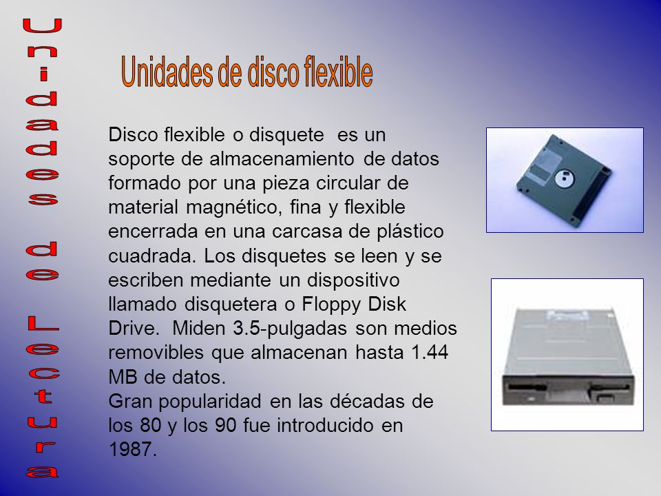 Unidades De Disco Flexible