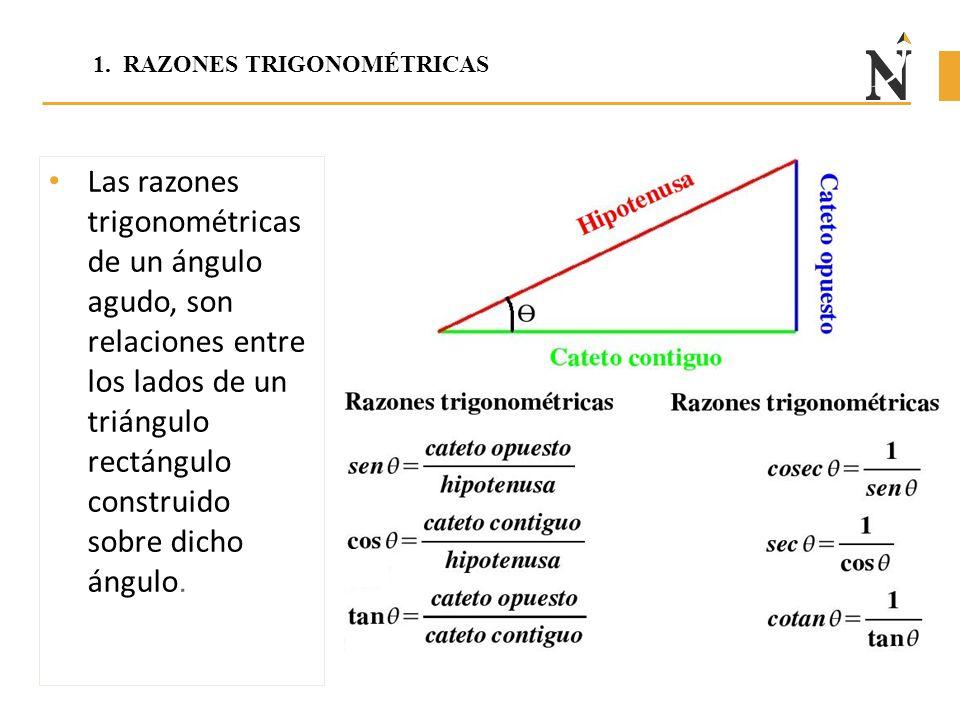 1. RAZONES TRIGONOMÉTRICAS