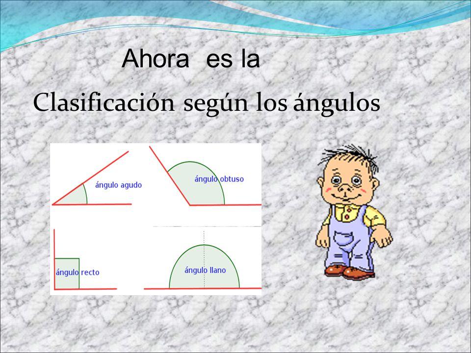 Ahora es la Clasificación según los ángulos