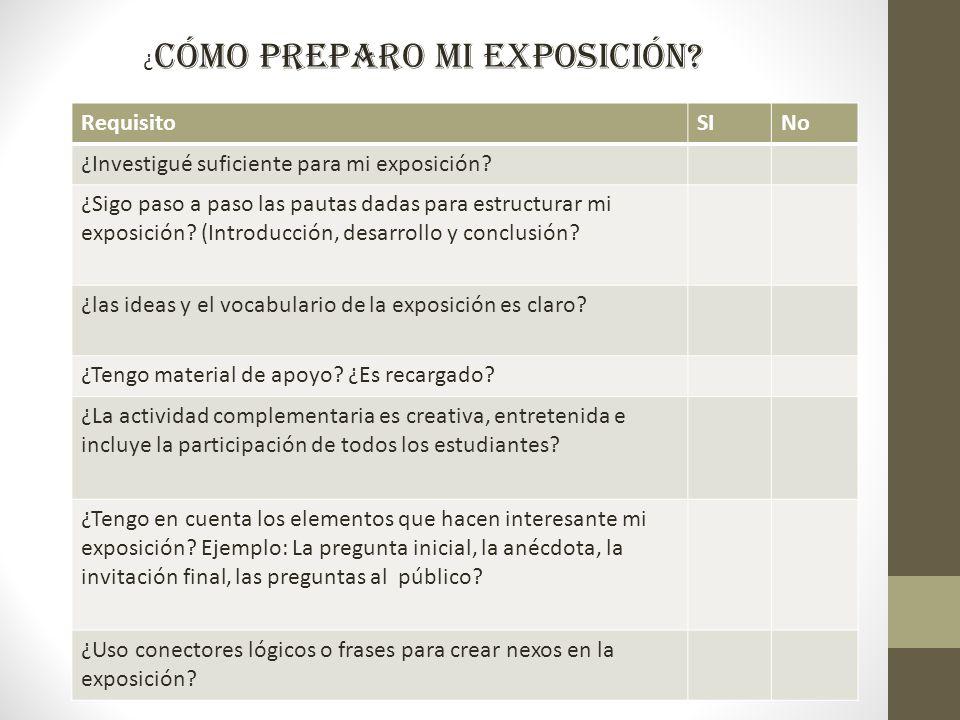 La exposici n oral ppt video online descargar for Pasos para realizar una exposicion