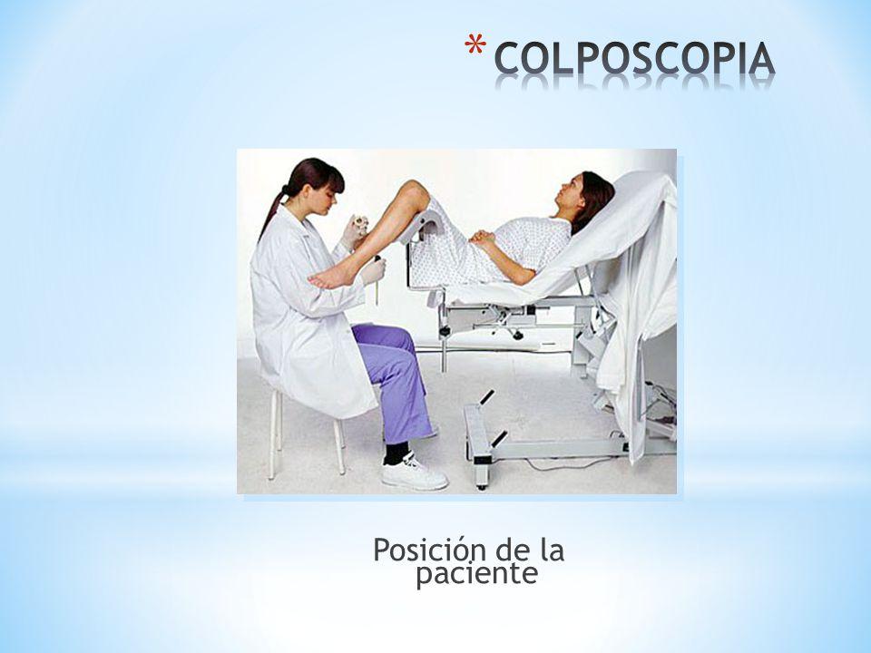 Posición de la paciente