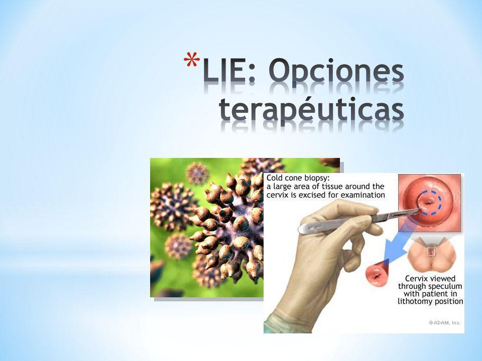 LIE: Opciones terapéuticas