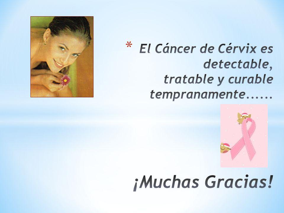 El Cáncer de Cérvix es detectable, tratable y curable tempranamente