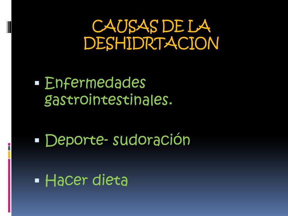 CAUSAS DE LA DESHIDRTACION