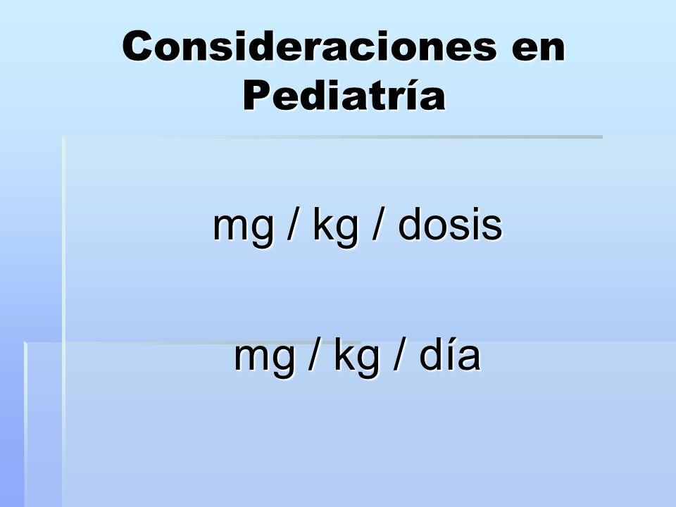 Consideraciones en Pediatría