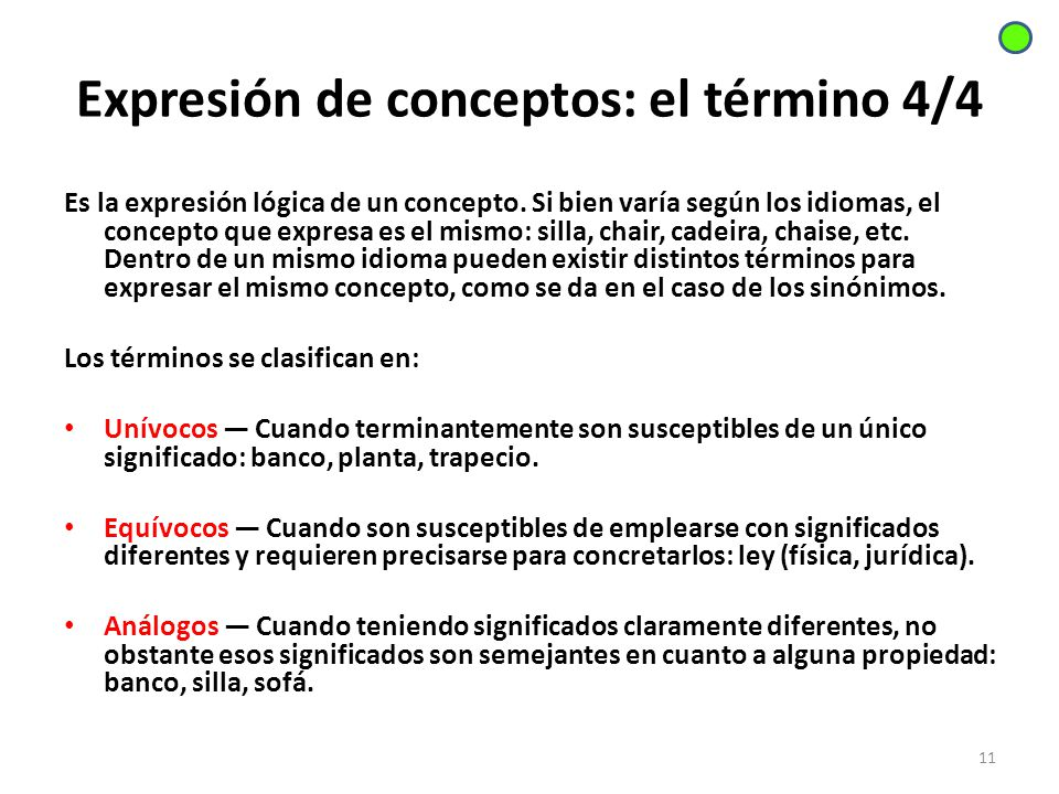 Expresión de conceptos: el término 4/4