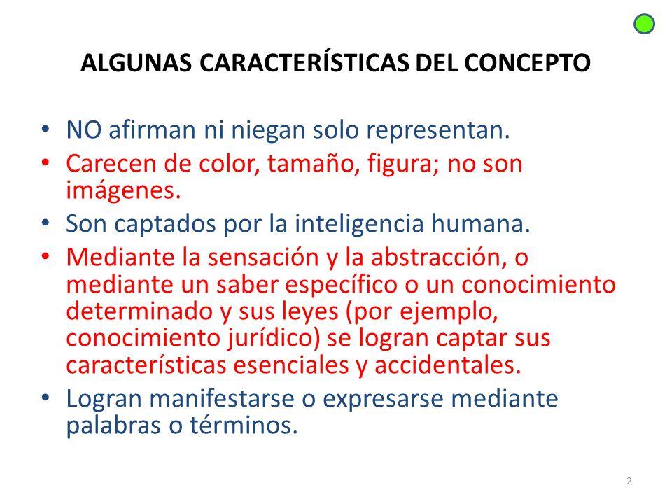 ALGUNAS CARACTERÍSTICAS DEL CONCEPTO