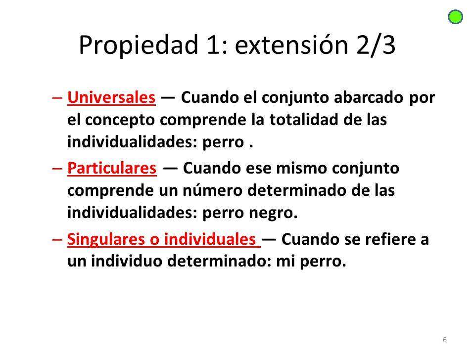 Propiedad 1: extensión 2/3