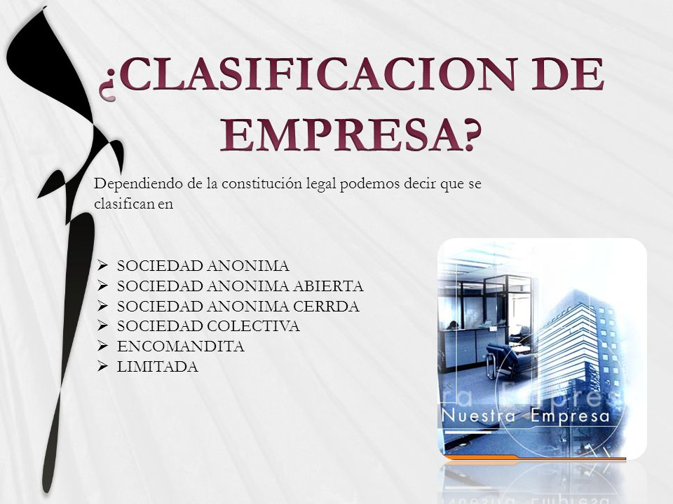 ¿CLASIFICACION DE EMPRESA