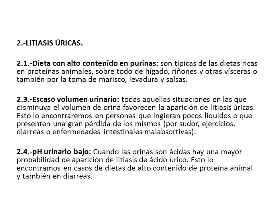 2.-LITIASIS ÚRICAS.