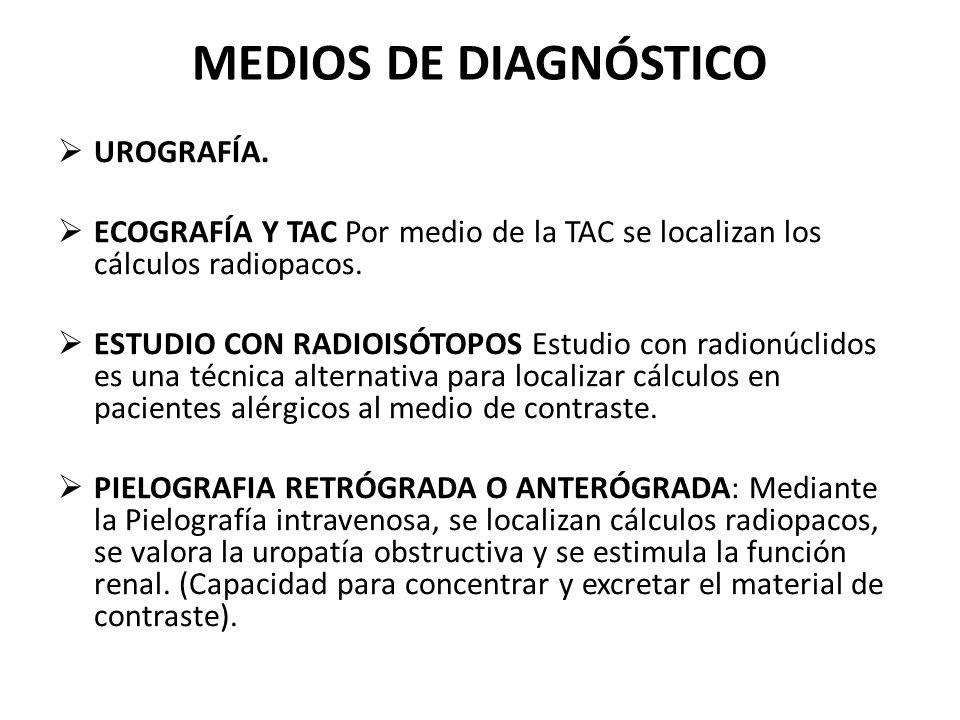 MEDIOS DE DIAGNÓSTICO UROGRAFÍA.