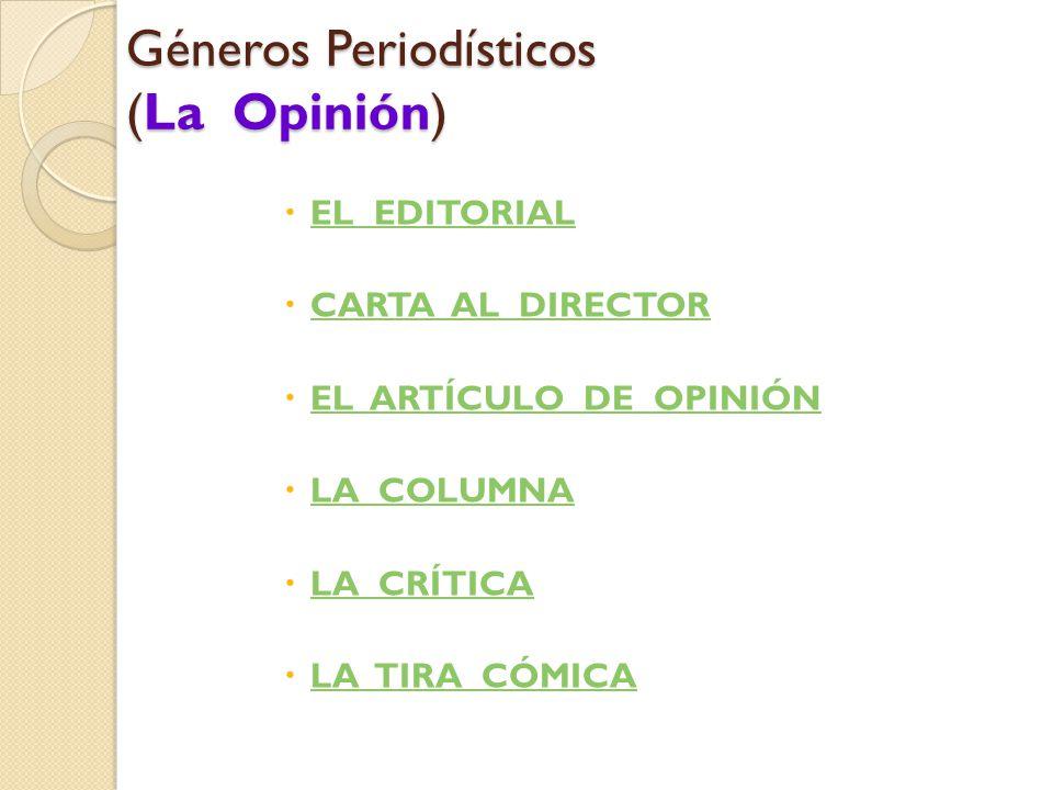 Géneros Periodísticos (La Opinión)