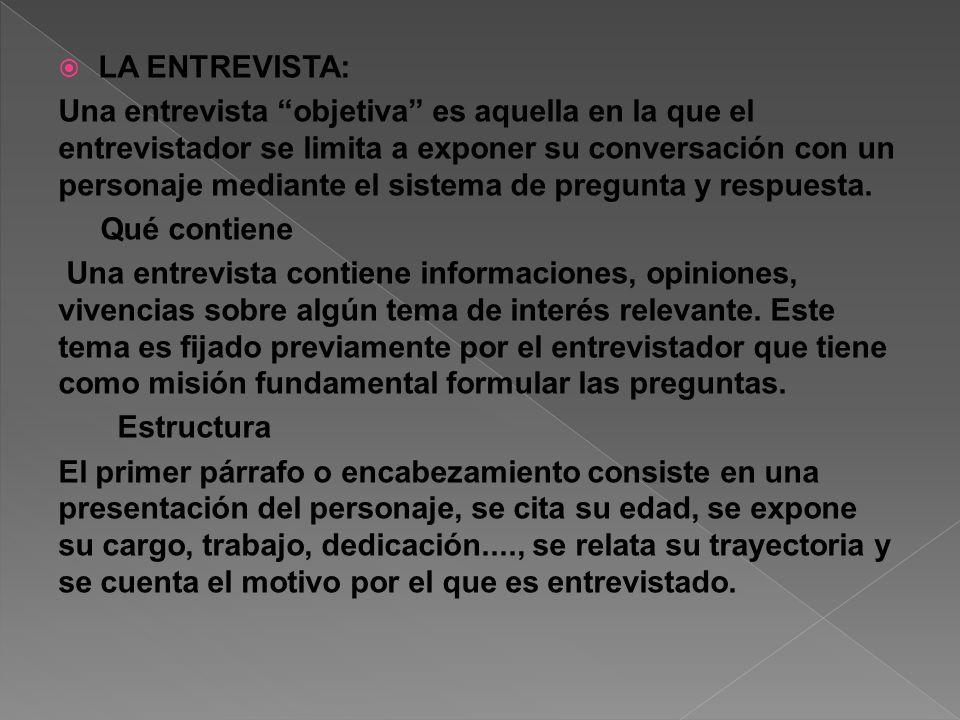 LA ENTREVISTA: