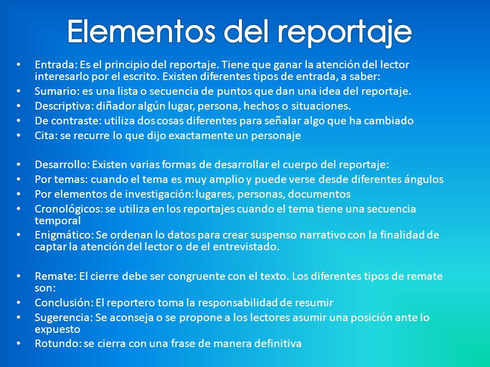Elementos del reportaje