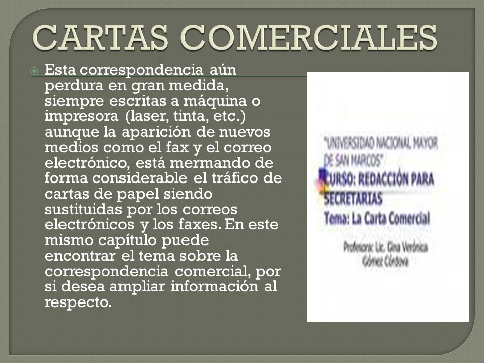 CARTAS COMERCIALES