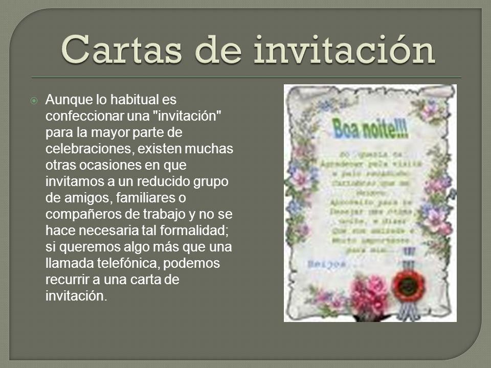 Cartas de invitación
