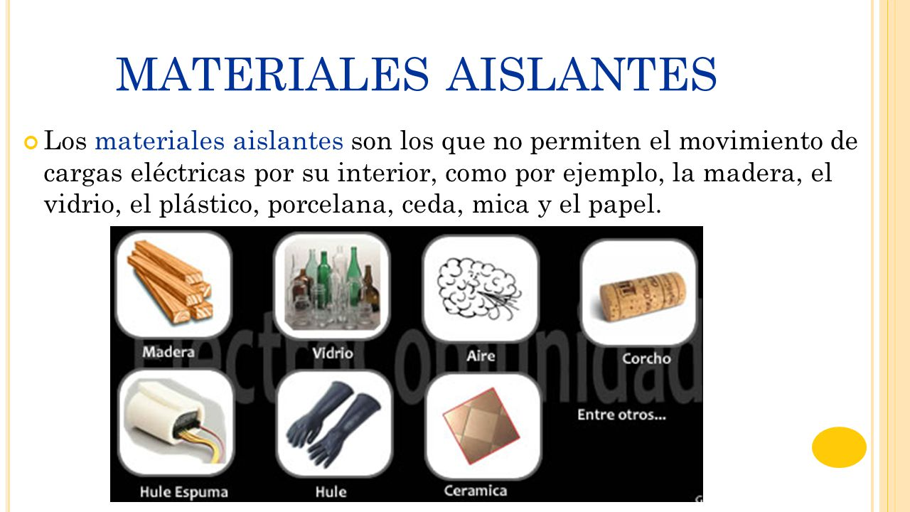 Ejemplos de materiales aislantes materiales de - El material aislante ...