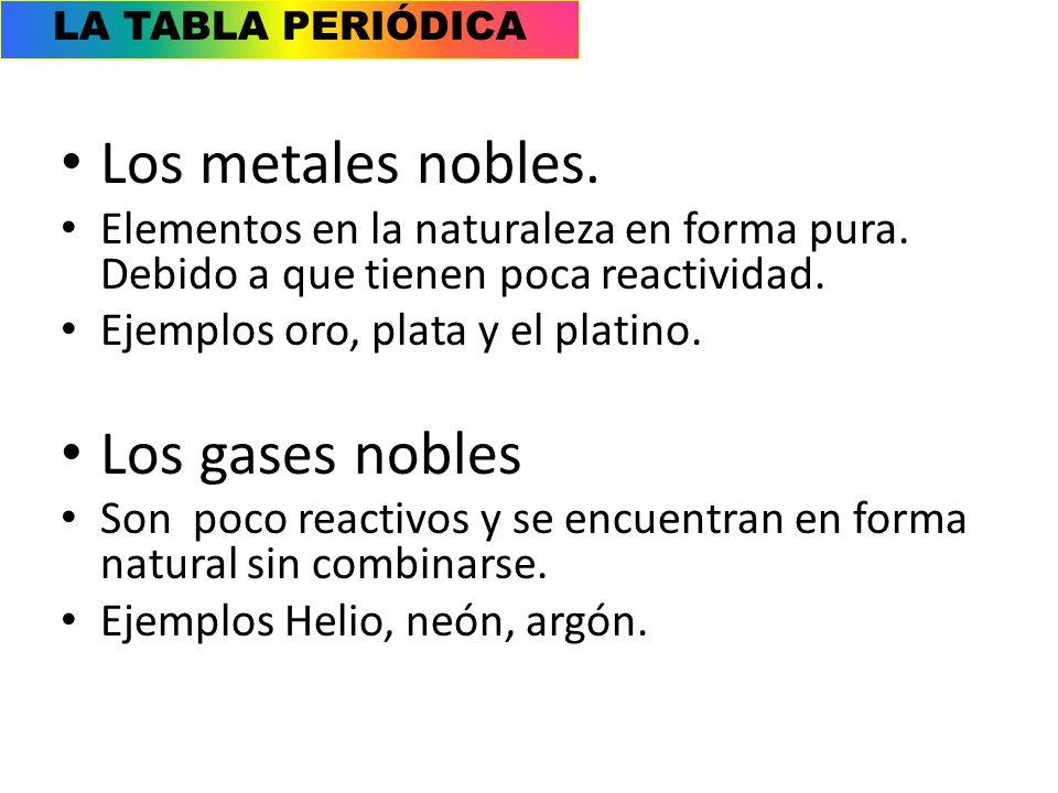 Metales no metales y metaloides ppt video online descargar los metales nobles los gases nobles urtaz Image collections