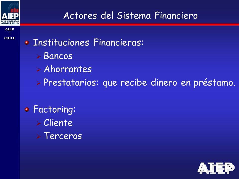 Actores del Sistema Financiero
