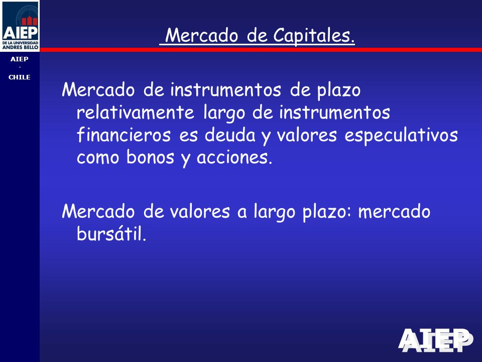 Mercado de Capitales.