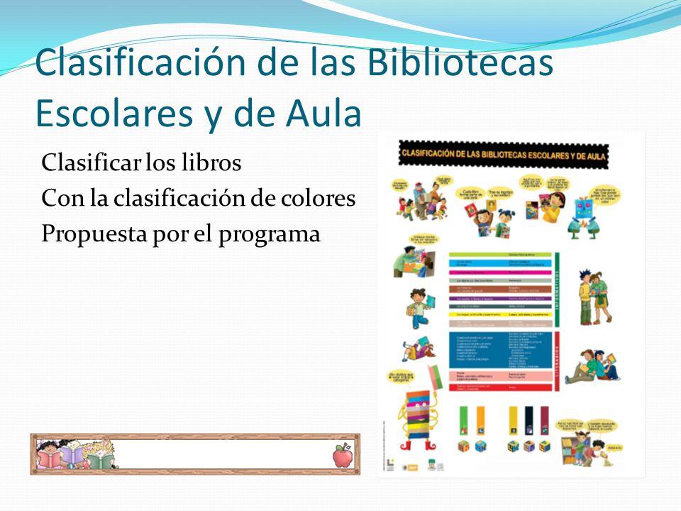 Clasificación de las Bibliotecas Escolares y de Aula