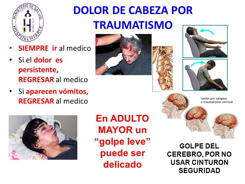 Traumatismo craneal Causas, sntomas y tratamiento