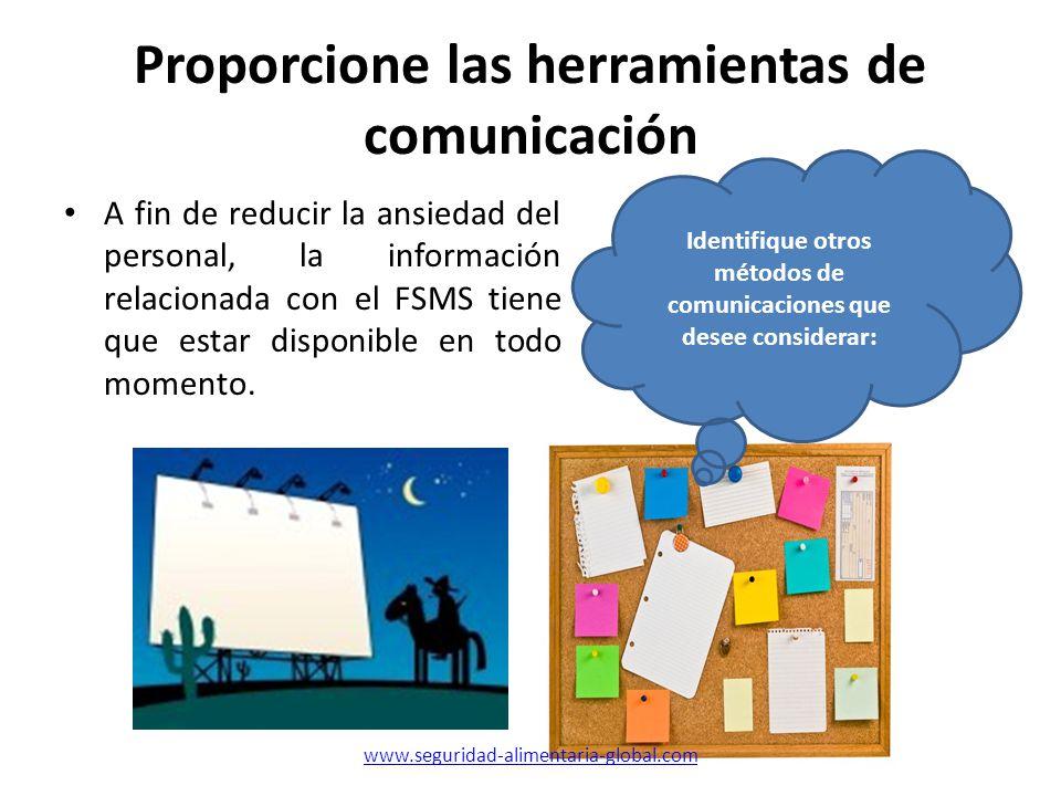 Proporcione las herramientas de comunicación