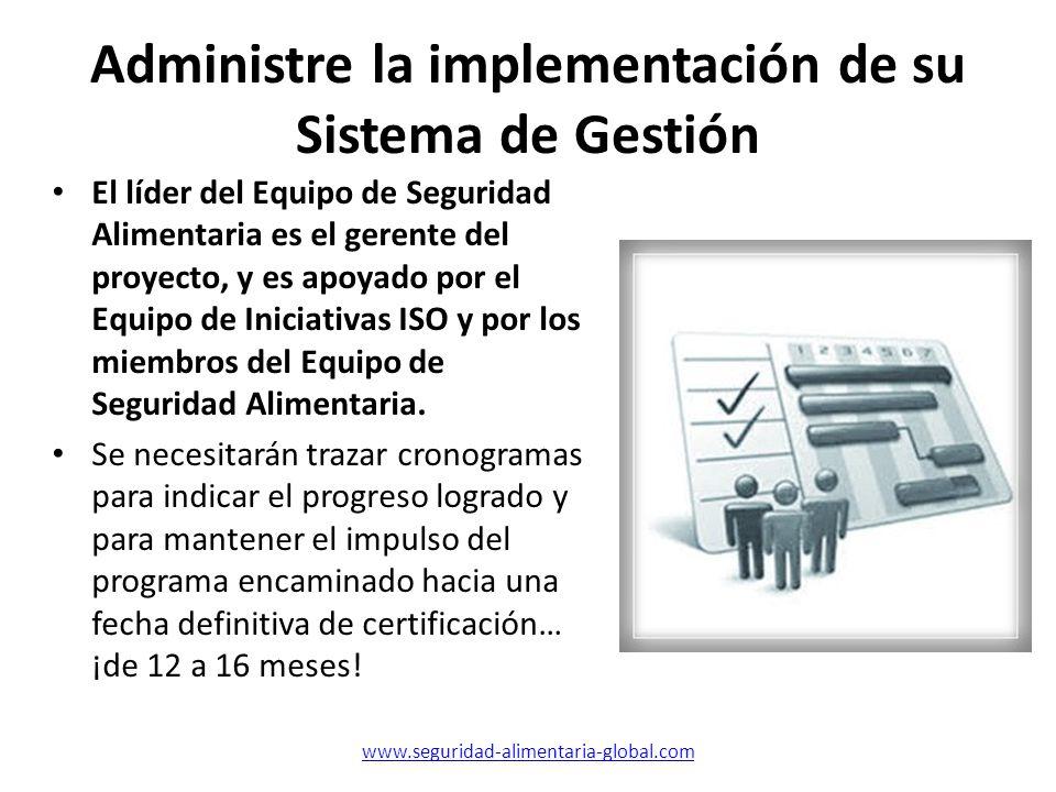 Administre la implementación de su Sistema de Gestión