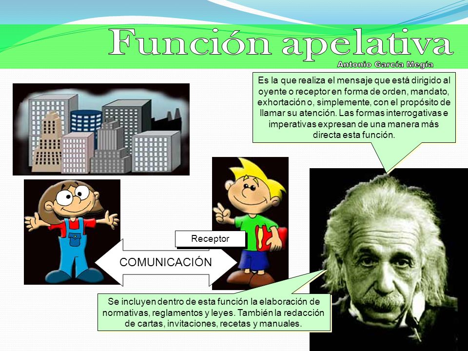 Función apelativa Antonio García Megía COMUNICACIÓN