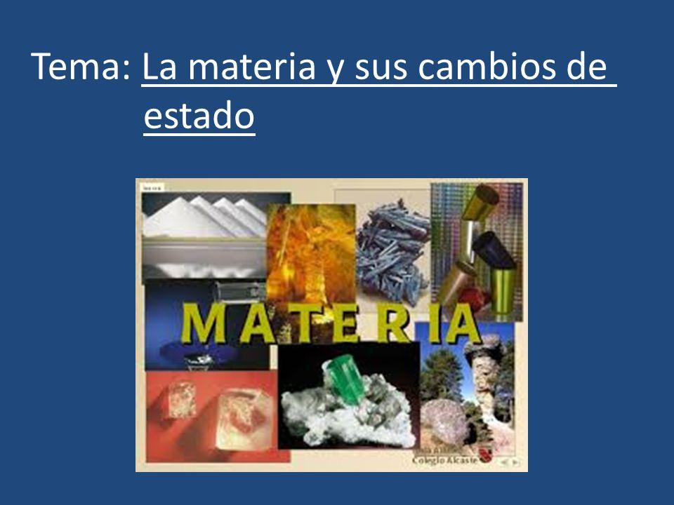 Tema: La materia y sus cambios de estado