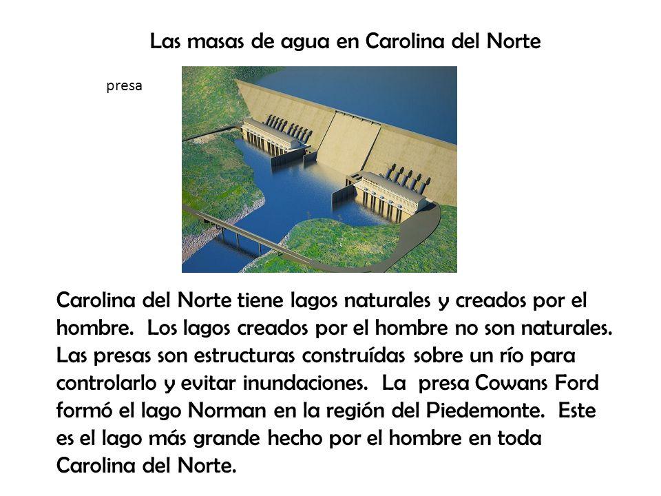 Las masas de agua en Carolina del Norte