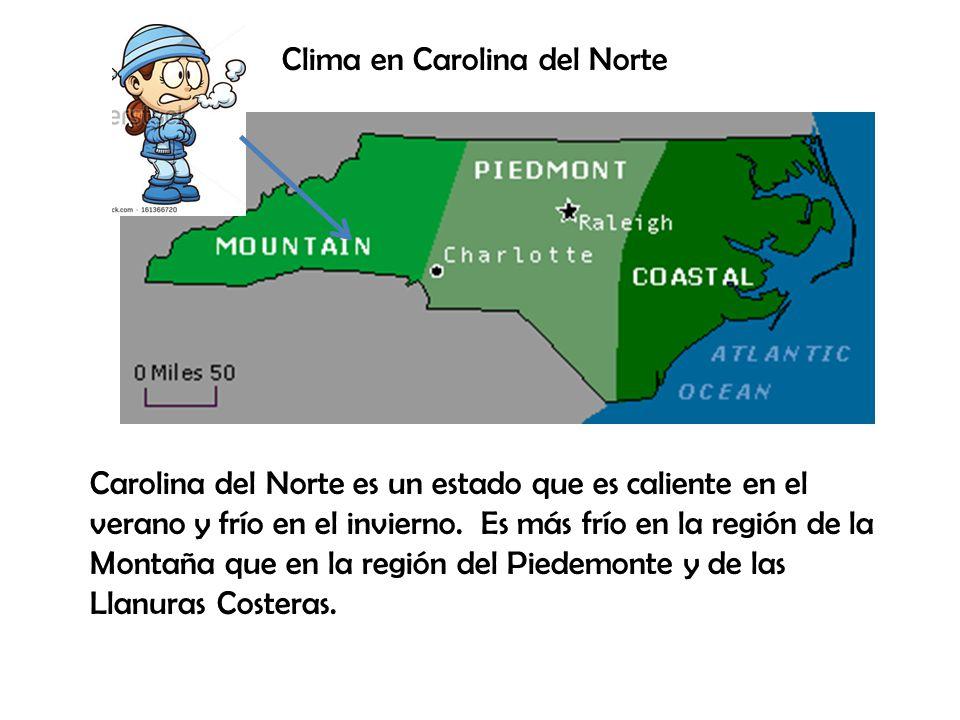 Clima en Carolina del Norte