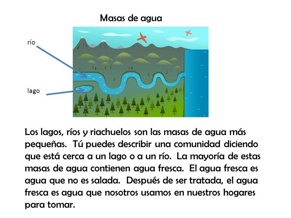 Masas de agua río. lago.