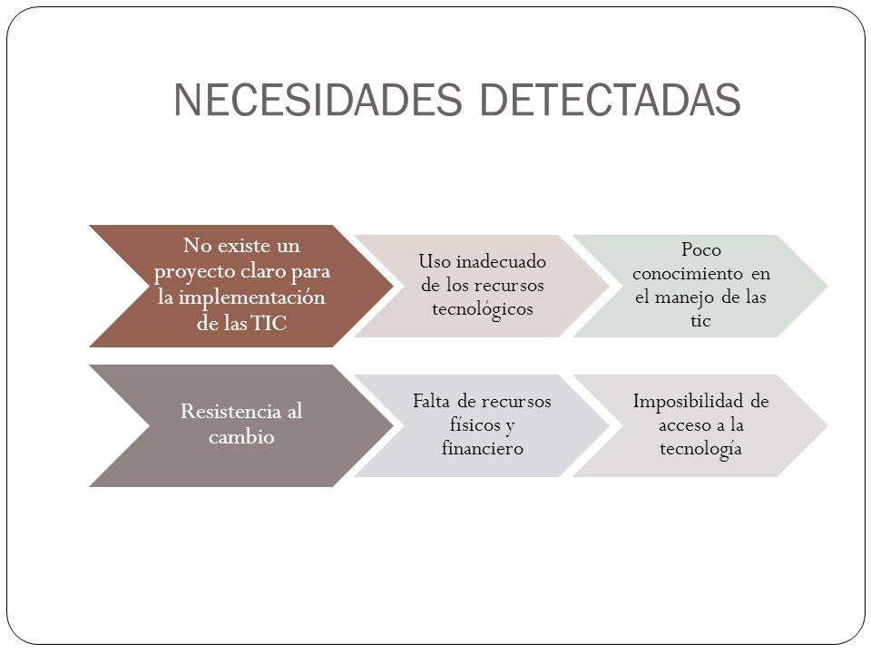 NECESIDADES DETECTADAS
