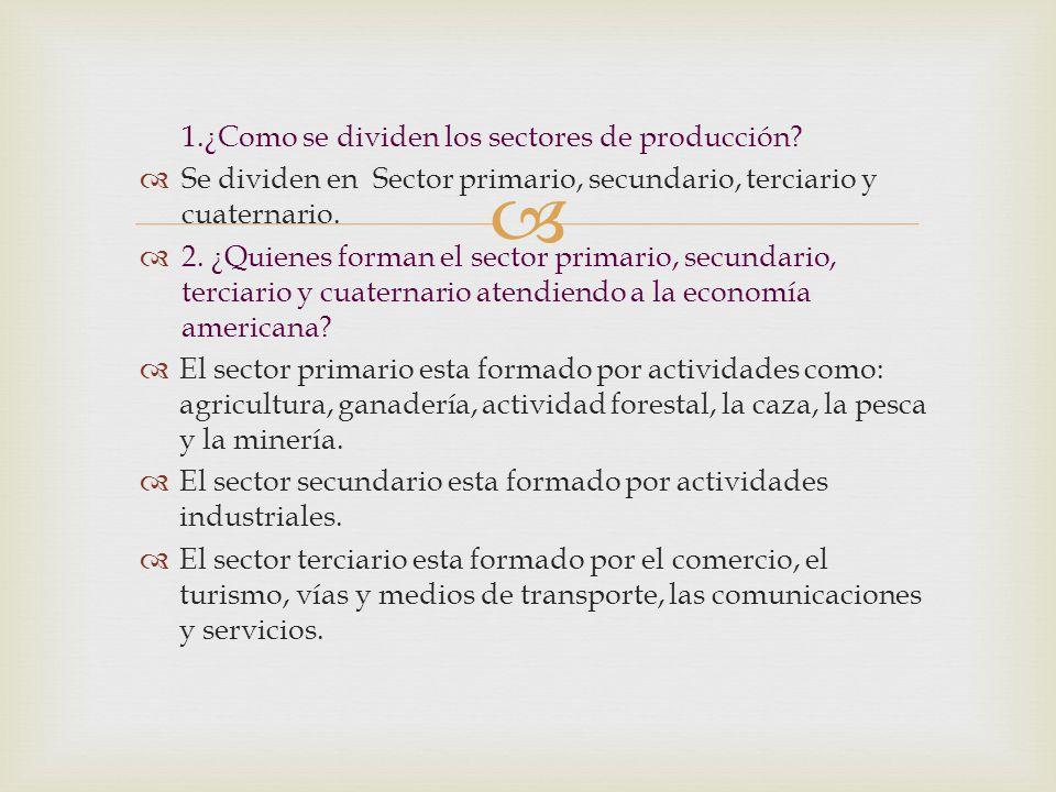 1.¿Como se dividen los sectores de producción