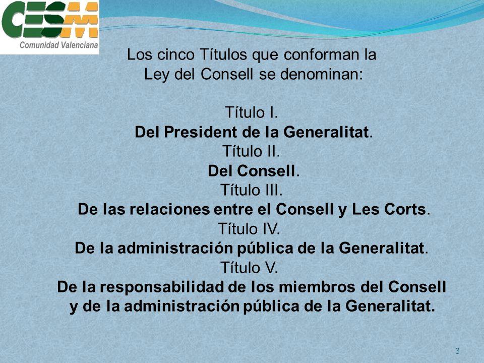 De la responsabilidad de los miembros del Consell