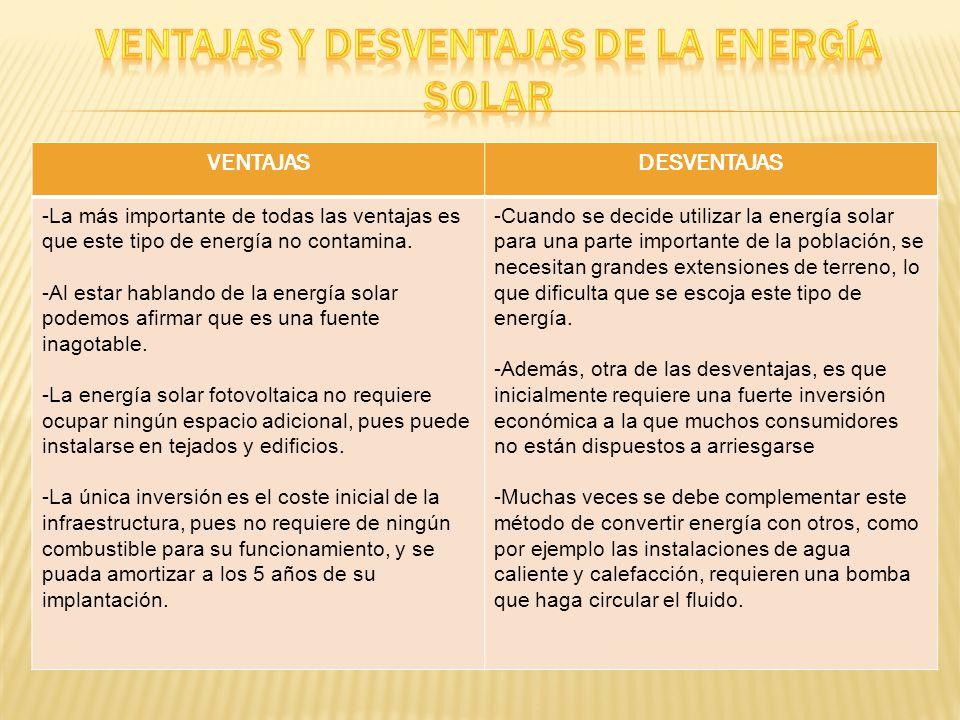 La energía solar. - ppt descargar