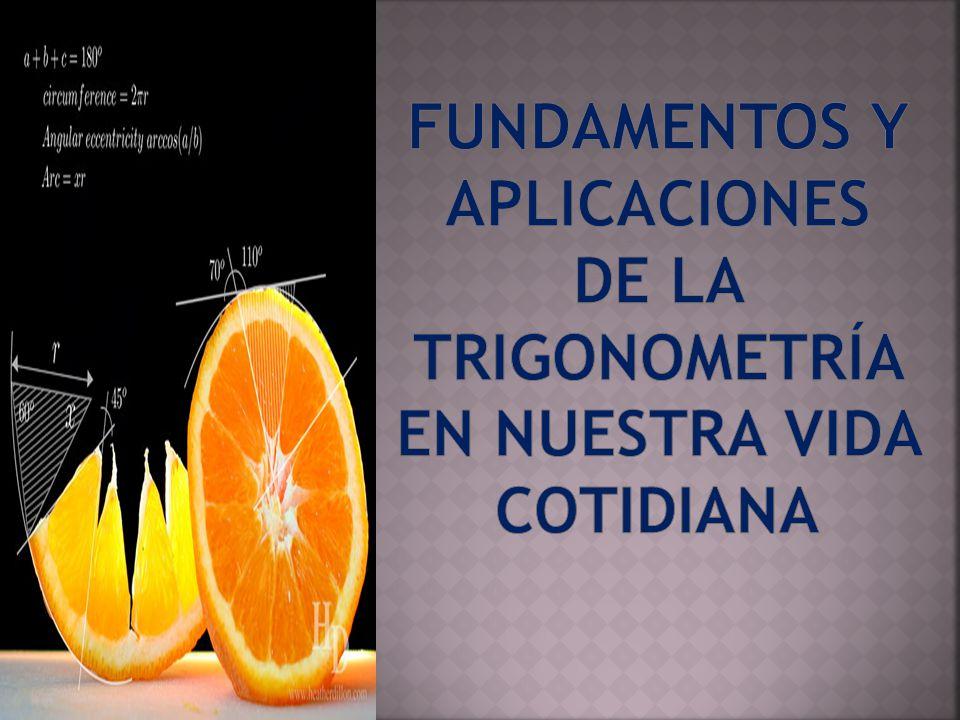 FUNDAMENTOS Y Aplicaciones de la Trigonometría en NUESTRA vida cotidiana