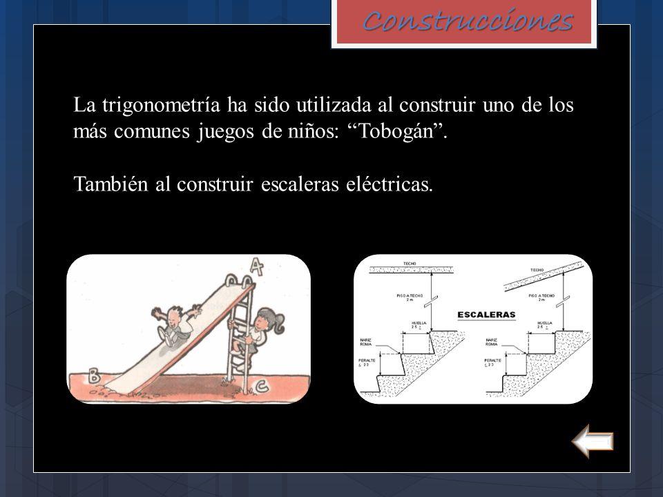 Construcciones La trigonometría ha sido utilizada al construir uno de los más comunes juegos de niños: Tobogán .