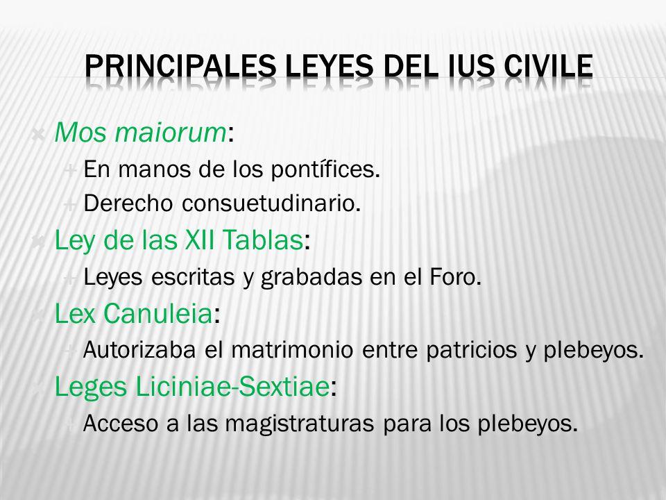 Principales leyes del ius civile