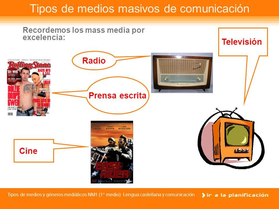 Tipos de medios masivos de comunicación