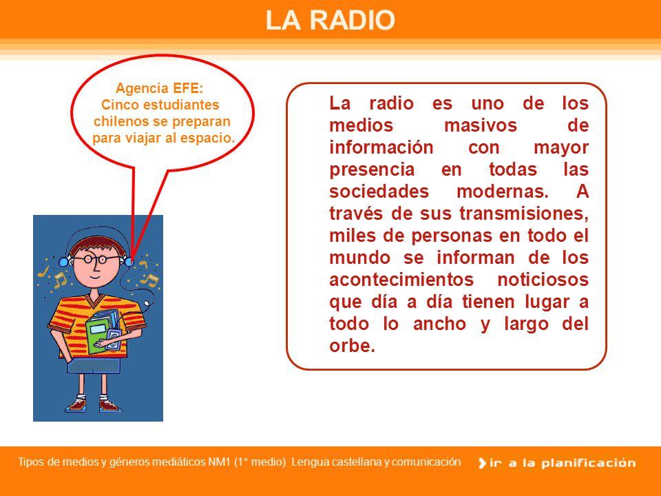 LA RADIO Agencia EFE: Cinco estudiantes. chilenos se preparan. para viajar al espacio.